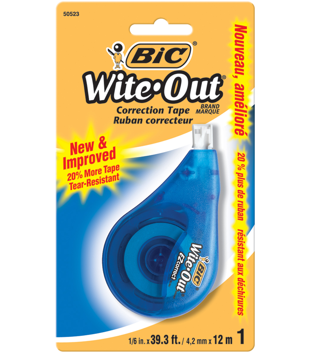 BIC Wite-Out EZ Correction Tape .1\u0022X39.3\u0027