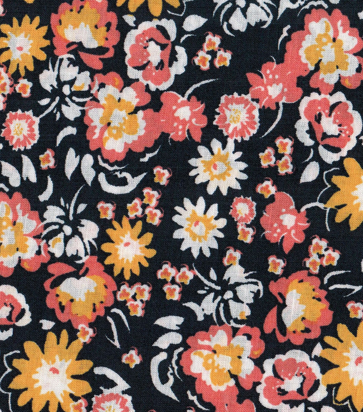 Quilter's Showcase™ Fabric 43''-Marigold Small Floral on Navy