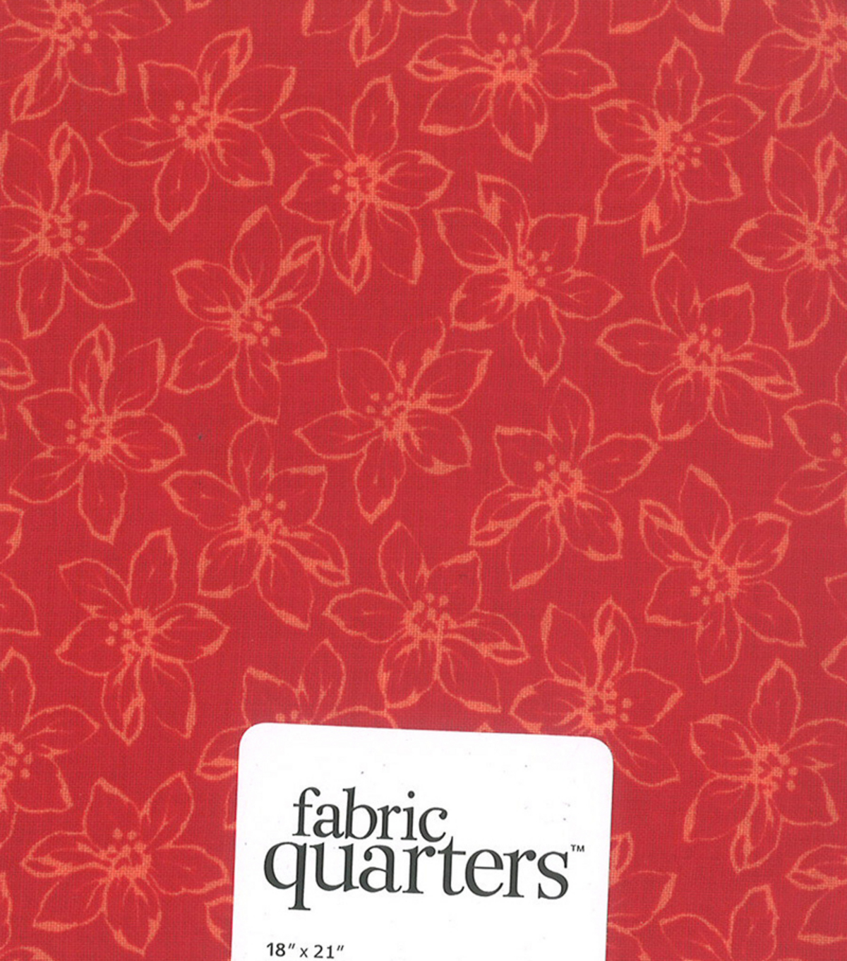 Fabric Quarters Cotton Fabric 18\u0022-Assorted Red