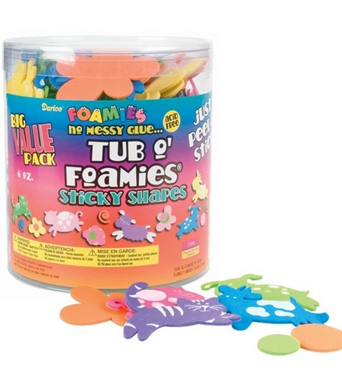 Tub O\u0027 Foamies Flowers & Friends Sticky Back Shape