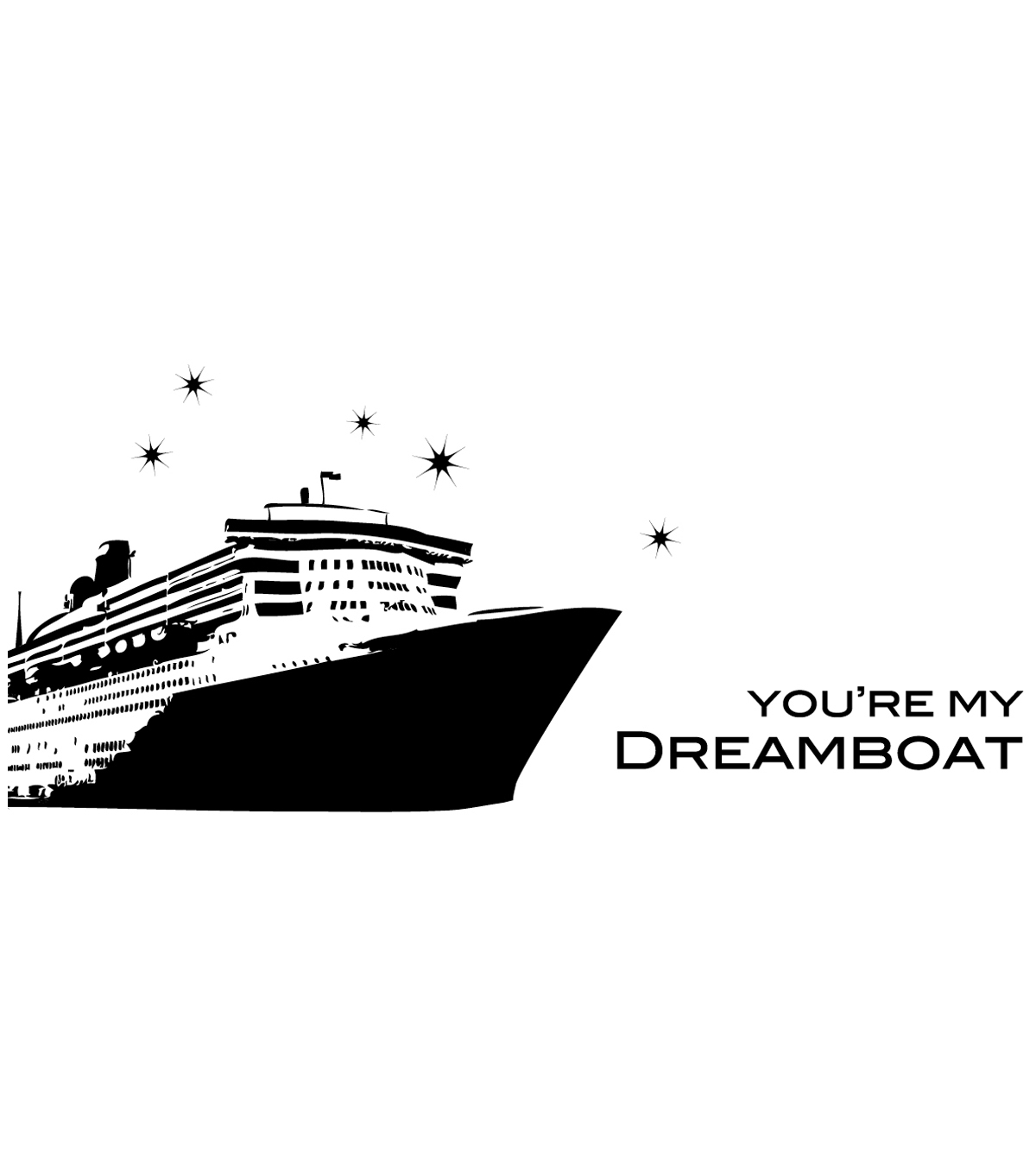 "Penny Black Rubber Stamp 2""X4.25""-Dreamboat"