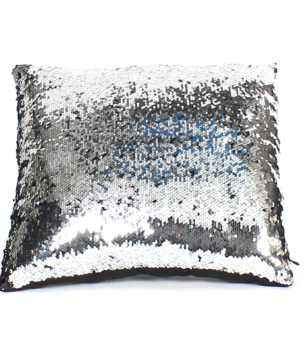 Sequin Pillow 16\u0027\u0027-Silver