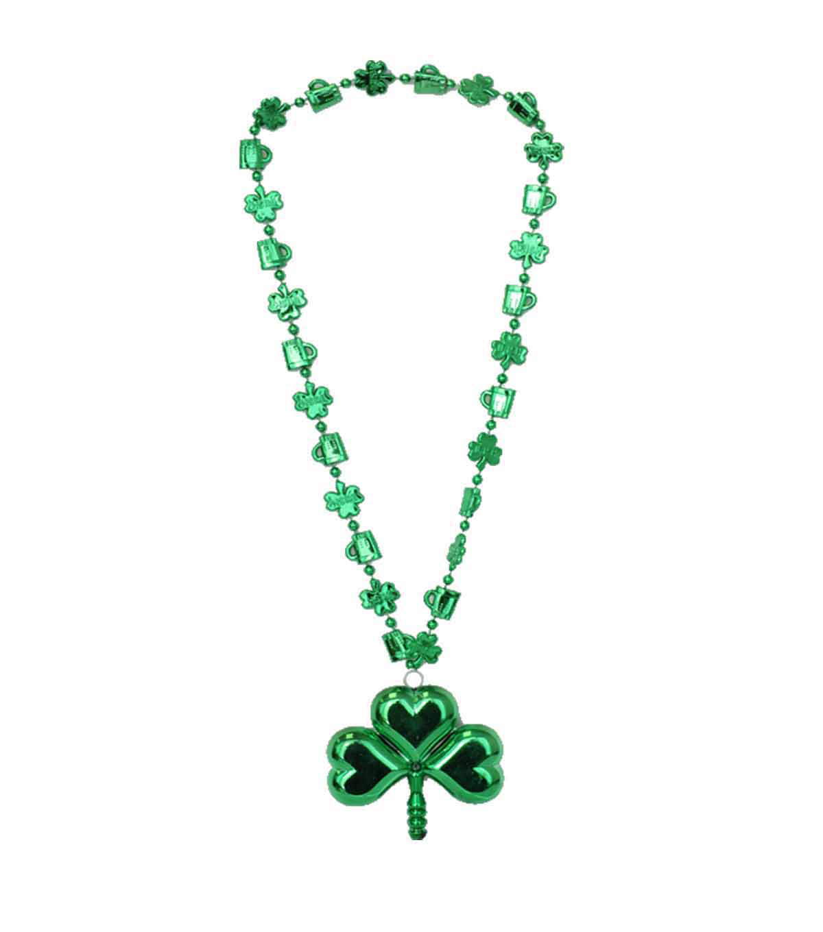 St. Patrick\u0027s Day 19\u0027\u0027 Shamrock Necklace