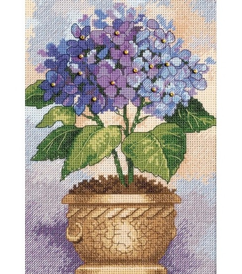 Dimensions Gold Counted Cross Stitch Kit Hydrangea In Bloom Petite