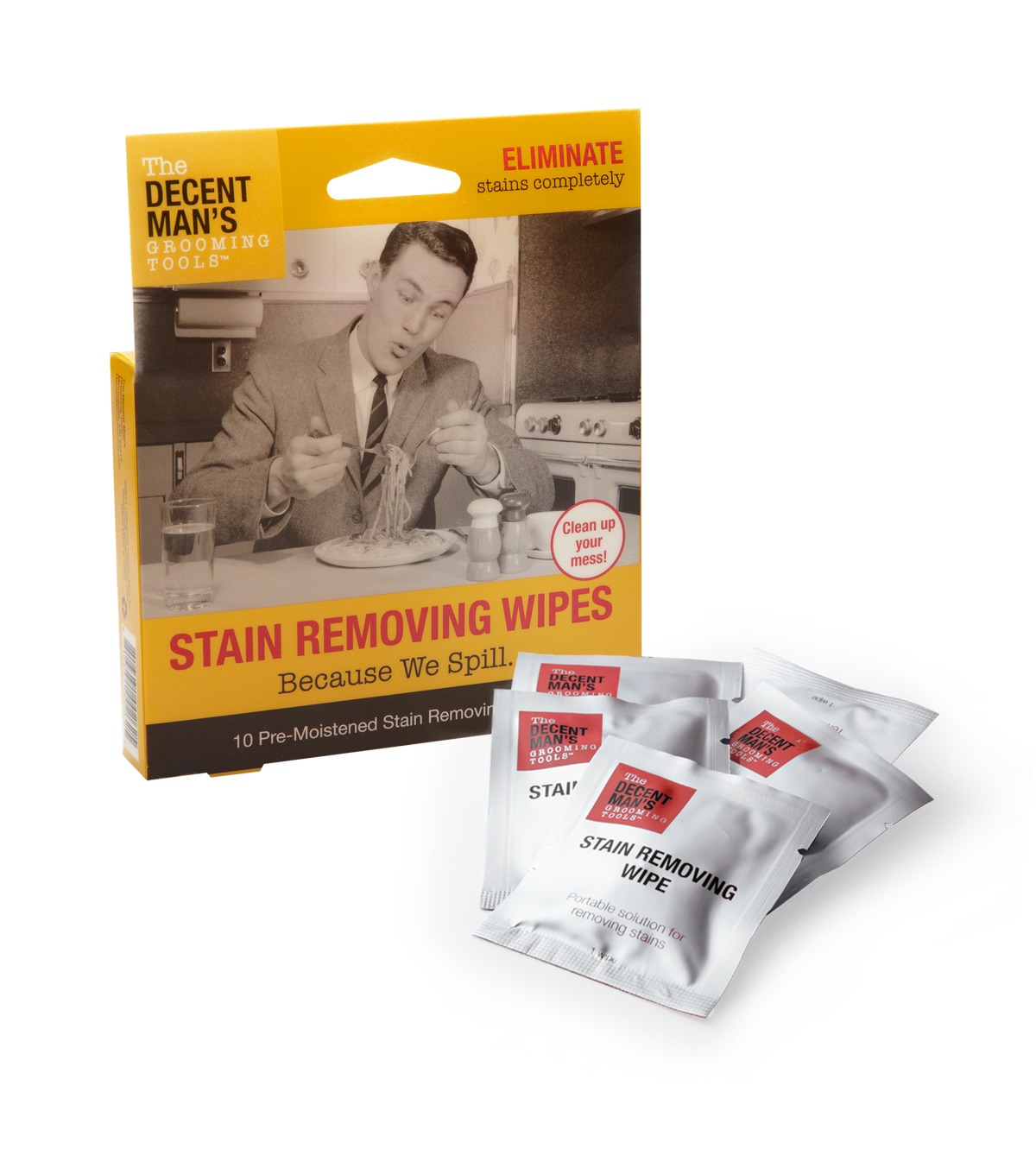 The Decent Man's Grooming Tools-Stain Removing Wipes