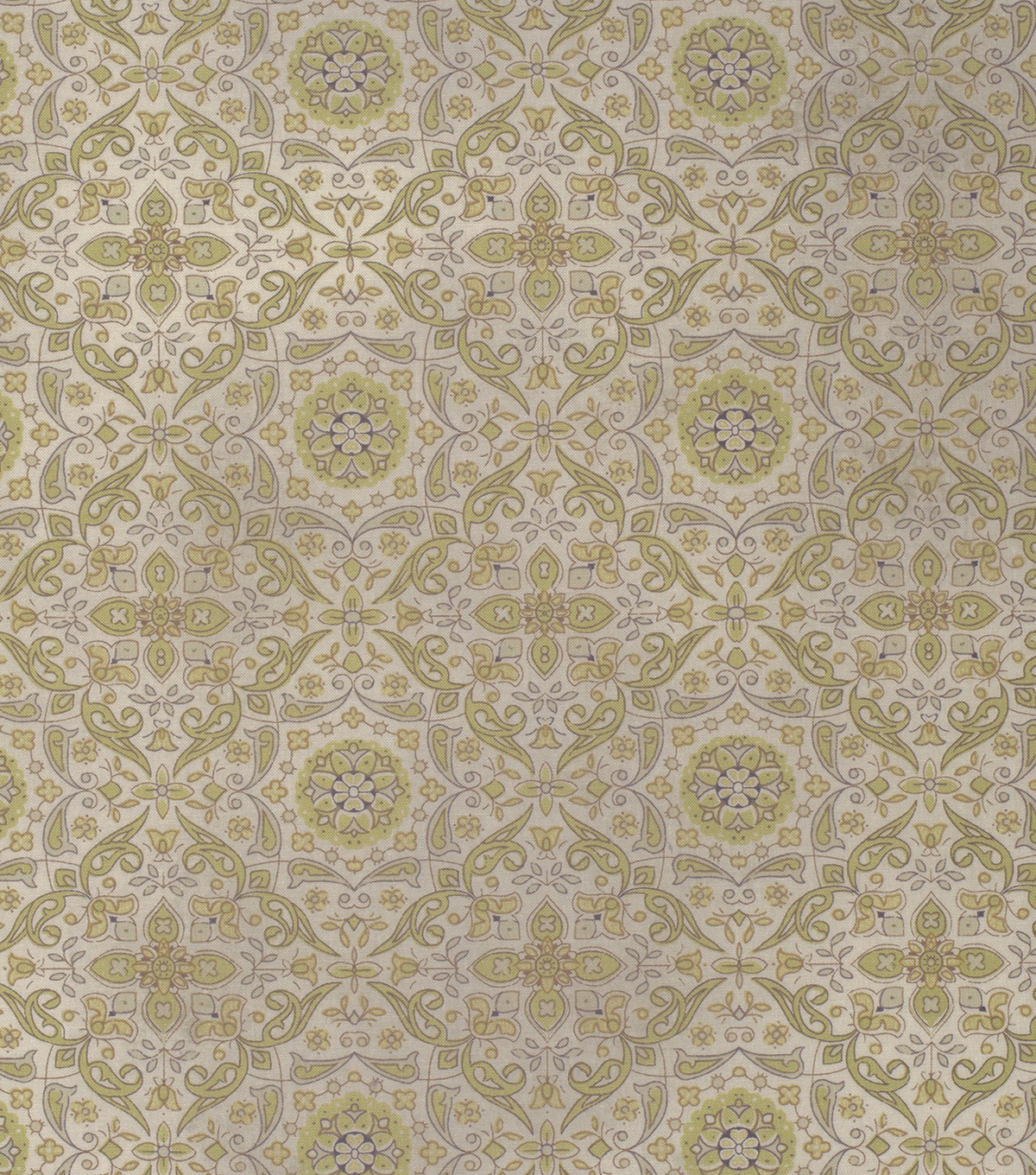 Tim Holtz Cotton Fabric - Tiled Green