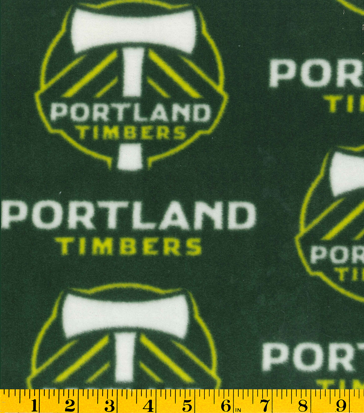 Portland Timbers Fleece Fabric 58\u0022-Logo