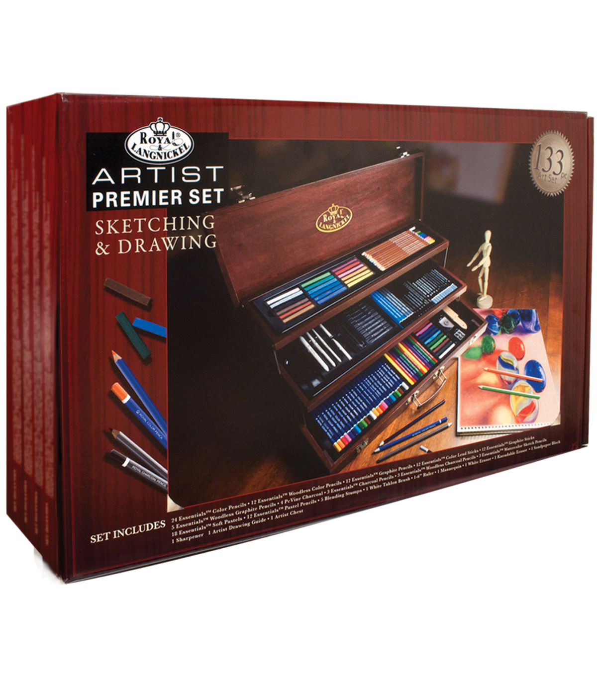 Premier Sketching & Drawing Chest 134 Pieces-