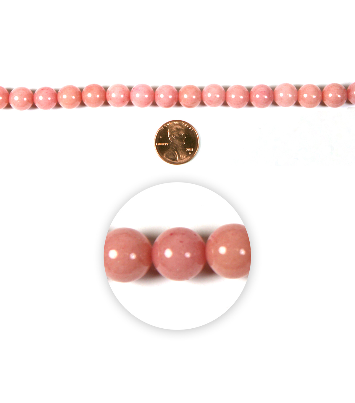 Blue Moon Strung Mountain Jade Beads,Round,Pink