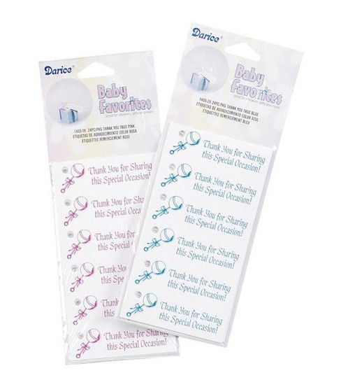 Darice Thank You Tags-Blue