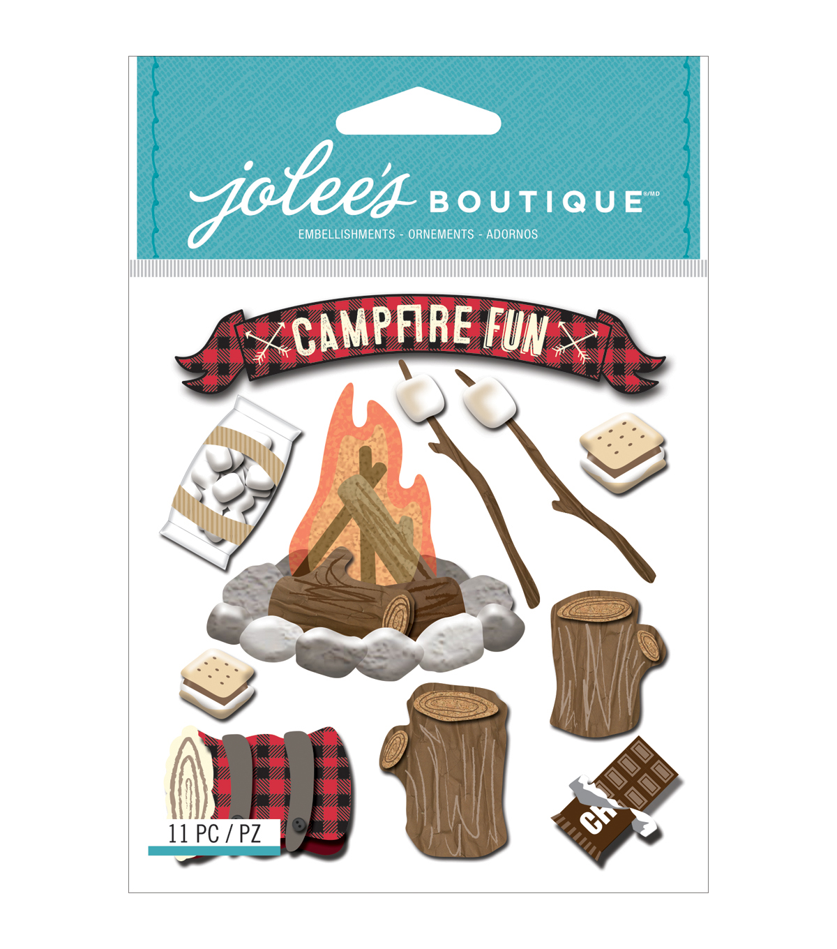 Jolee's Boutique® 11 Pack Dimensional Stickers-Campfire Fun