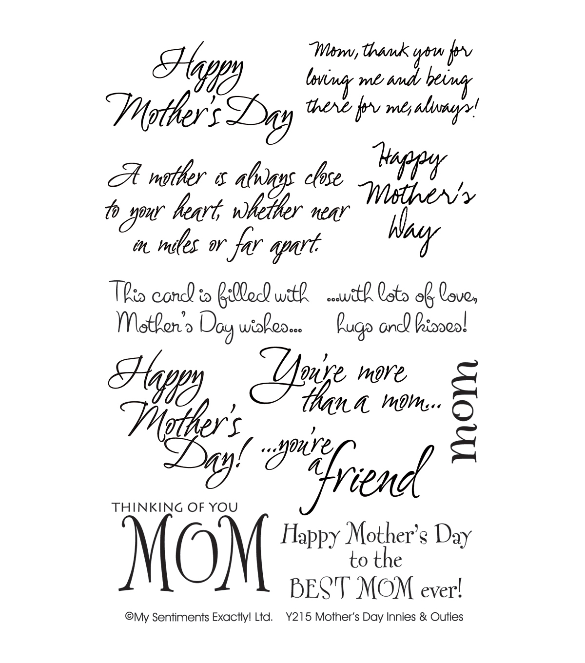 My Sentiments Exactly Clear Stamps 4\u0022X6\u0022 Sheet-Mother\u0027s Day