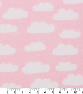 Nursery Fleece Fabric 59\u0022-Cloud