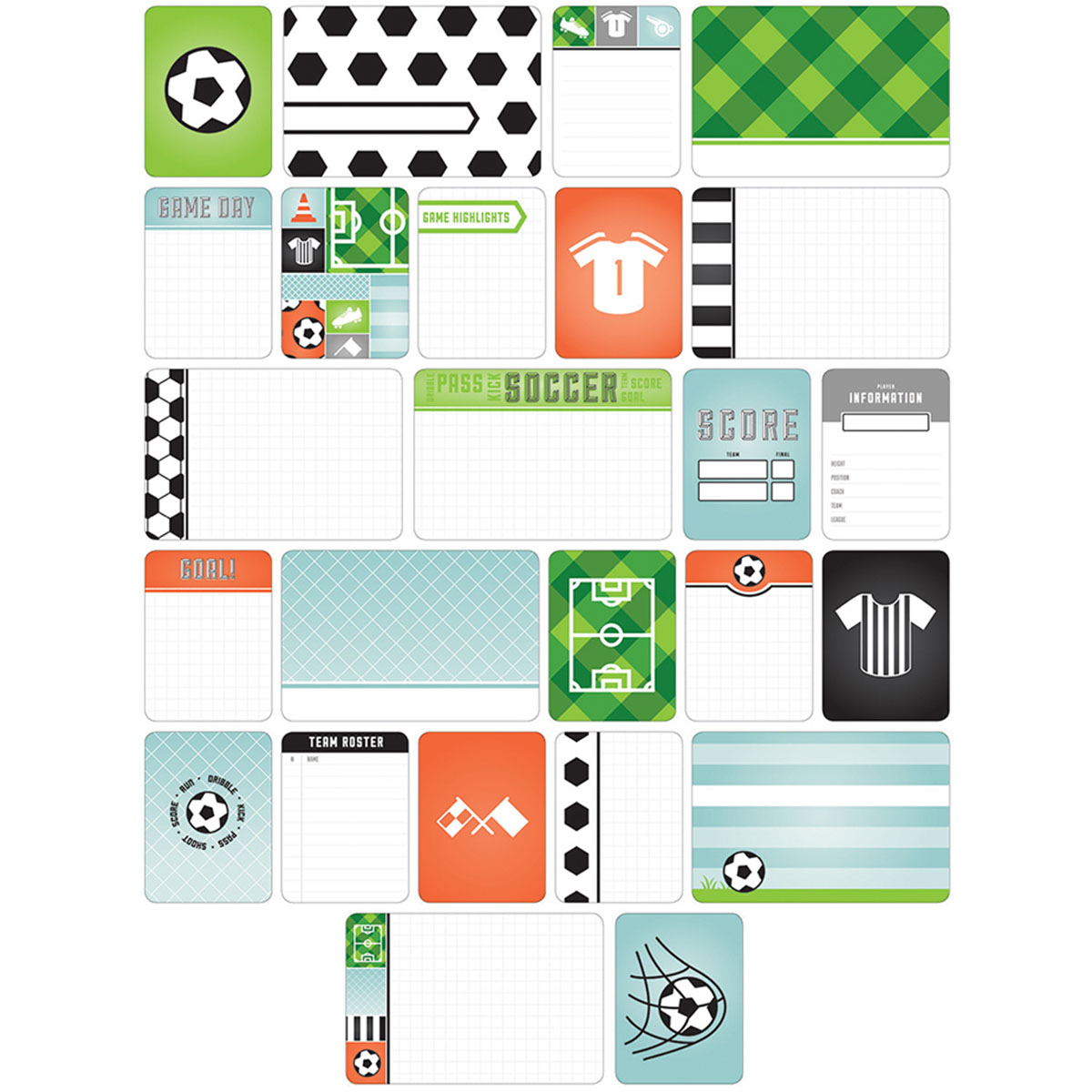 Project Life Themed Cards 40/Pkg-Soccer