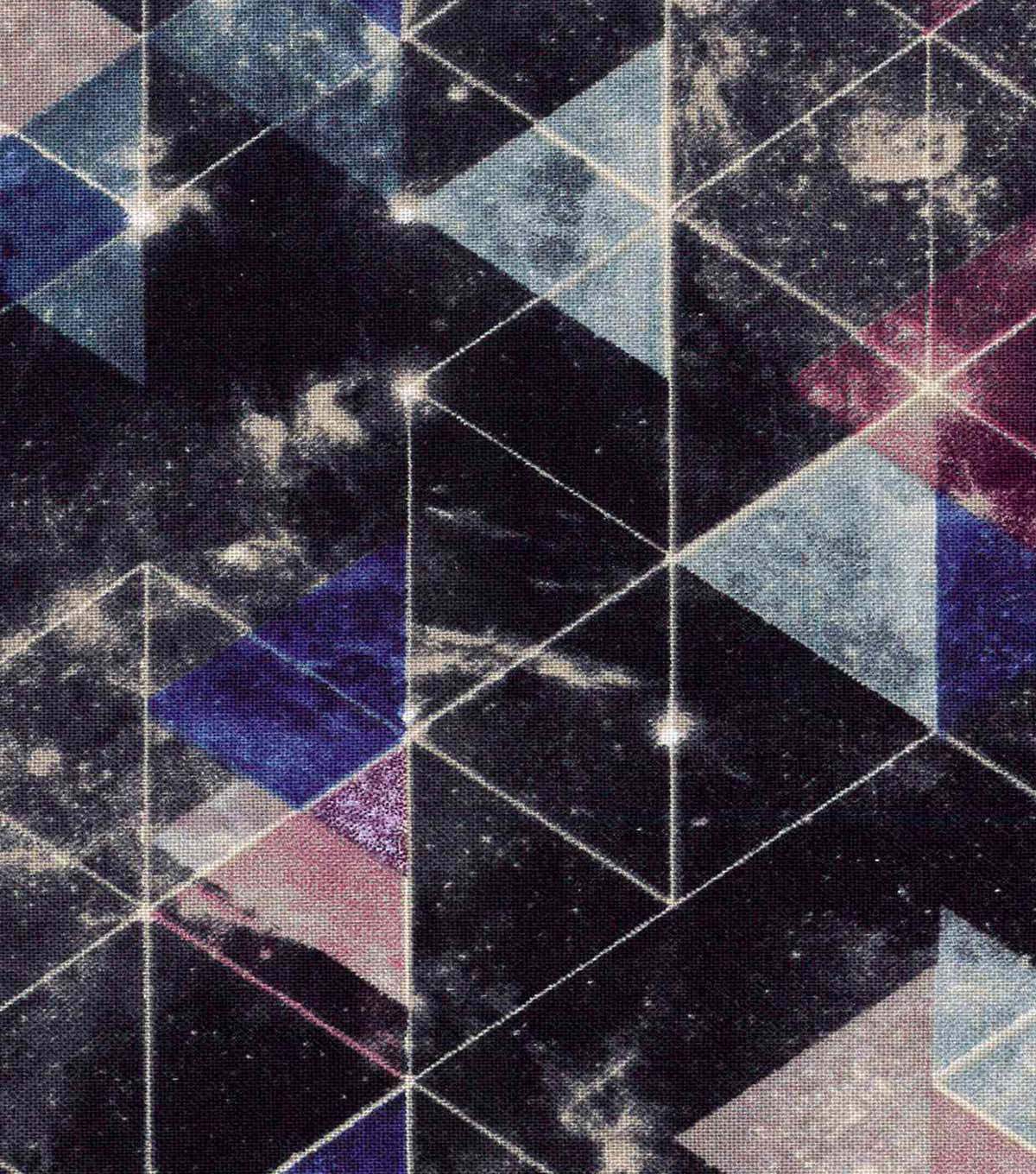 Modern Cotton Fabric 43\u0022-Midnight Triangles