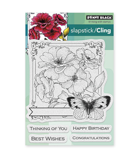 Penny Black Cling Rubber Stamp-Collage Of Wishes