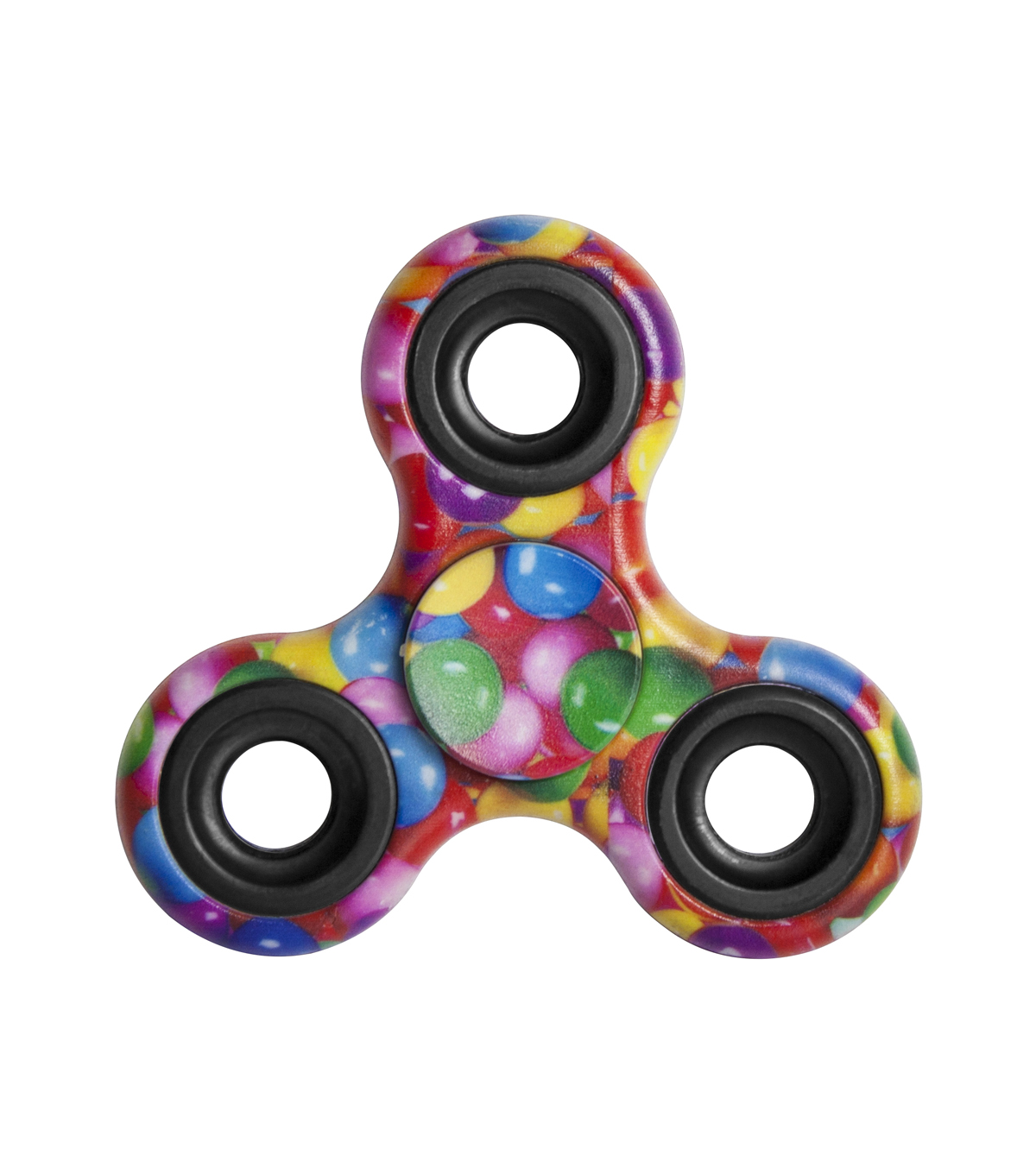 Solid & Printed Fidget Spinners-Assorted Colors