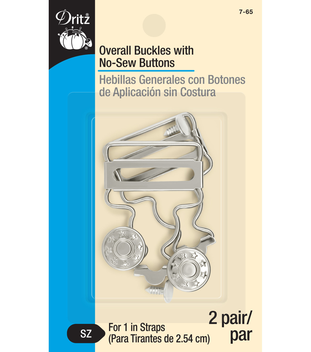 "Dritz® Overall Buckle For 1"" Straps-2/Pkg"