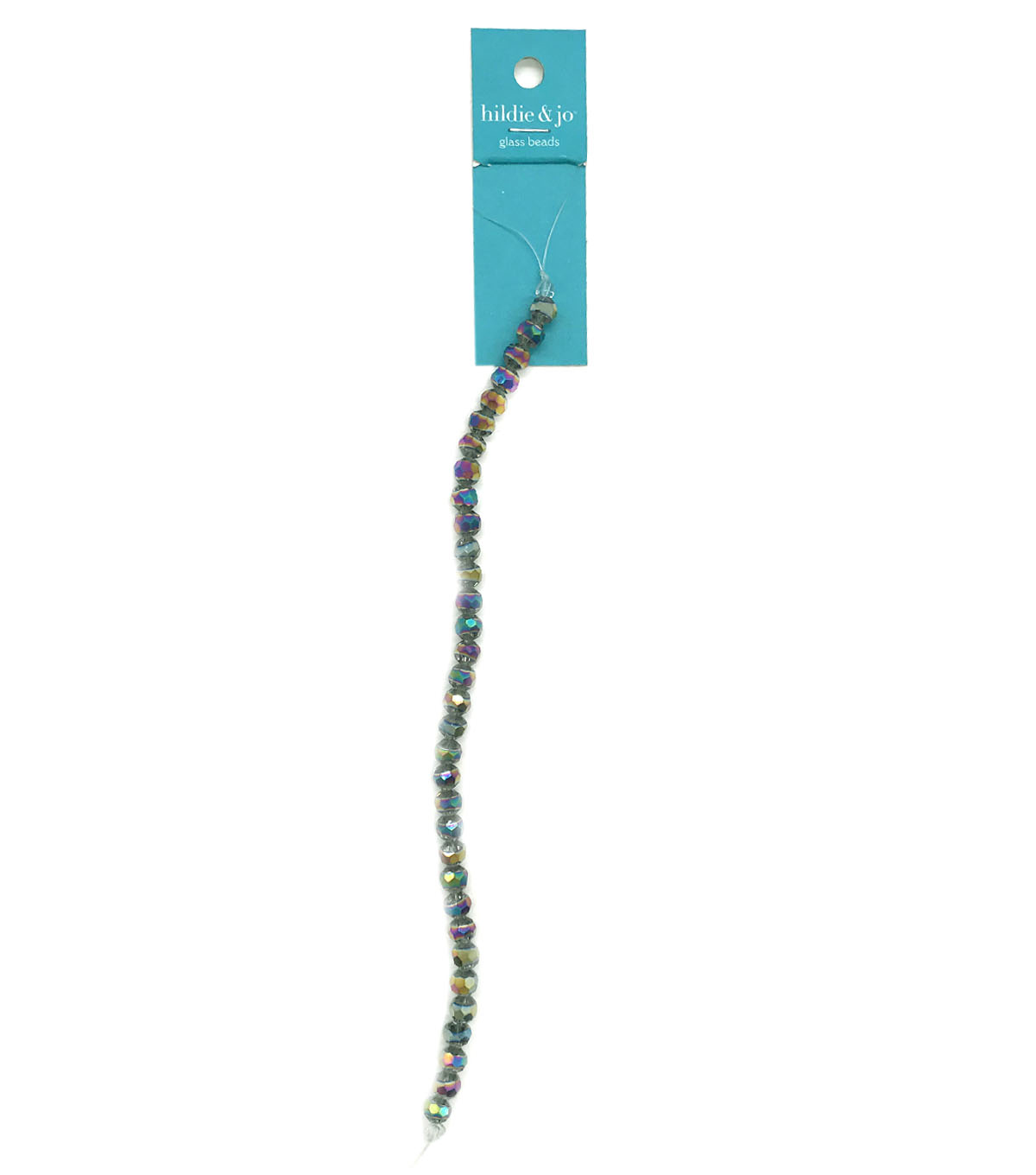 Blue Moon Strung Machine Cut Crystal Beads,Clear & Rainbow,Facetted