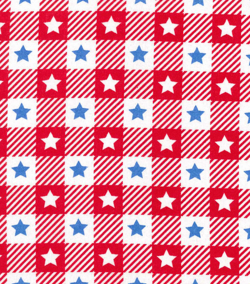 Patriotic Cotton Fabric 60\u0022-Blue Stars