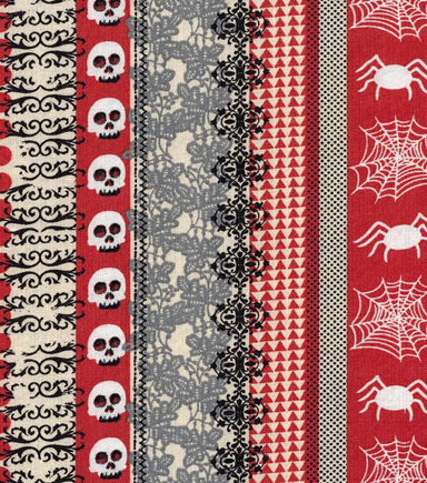 Halloween Cotton Fabric 43\u0022-Patterned Stripes