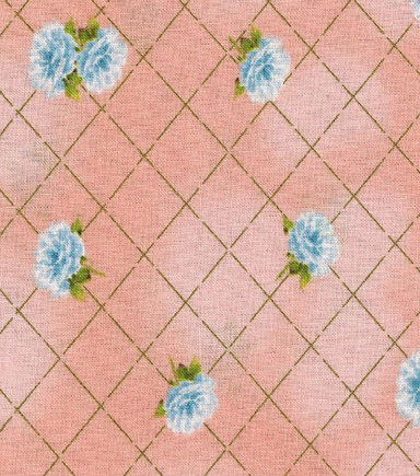 "Keepsake Calico™ Cotton Fabric 43""-Floral Peach withGold Metallic"