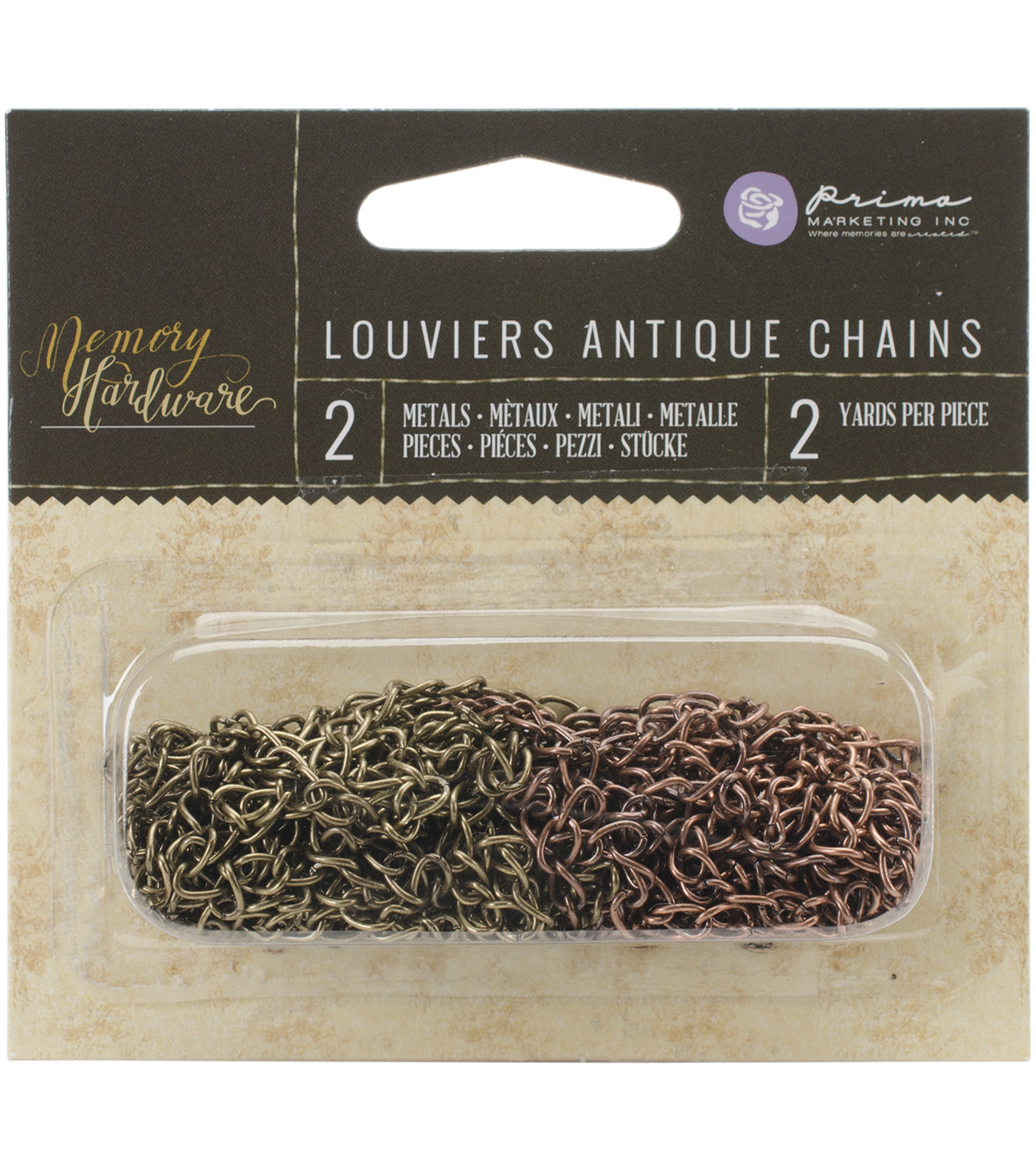 Prima Marketing Memory Hardware Louviers Antique Chains Embellishments