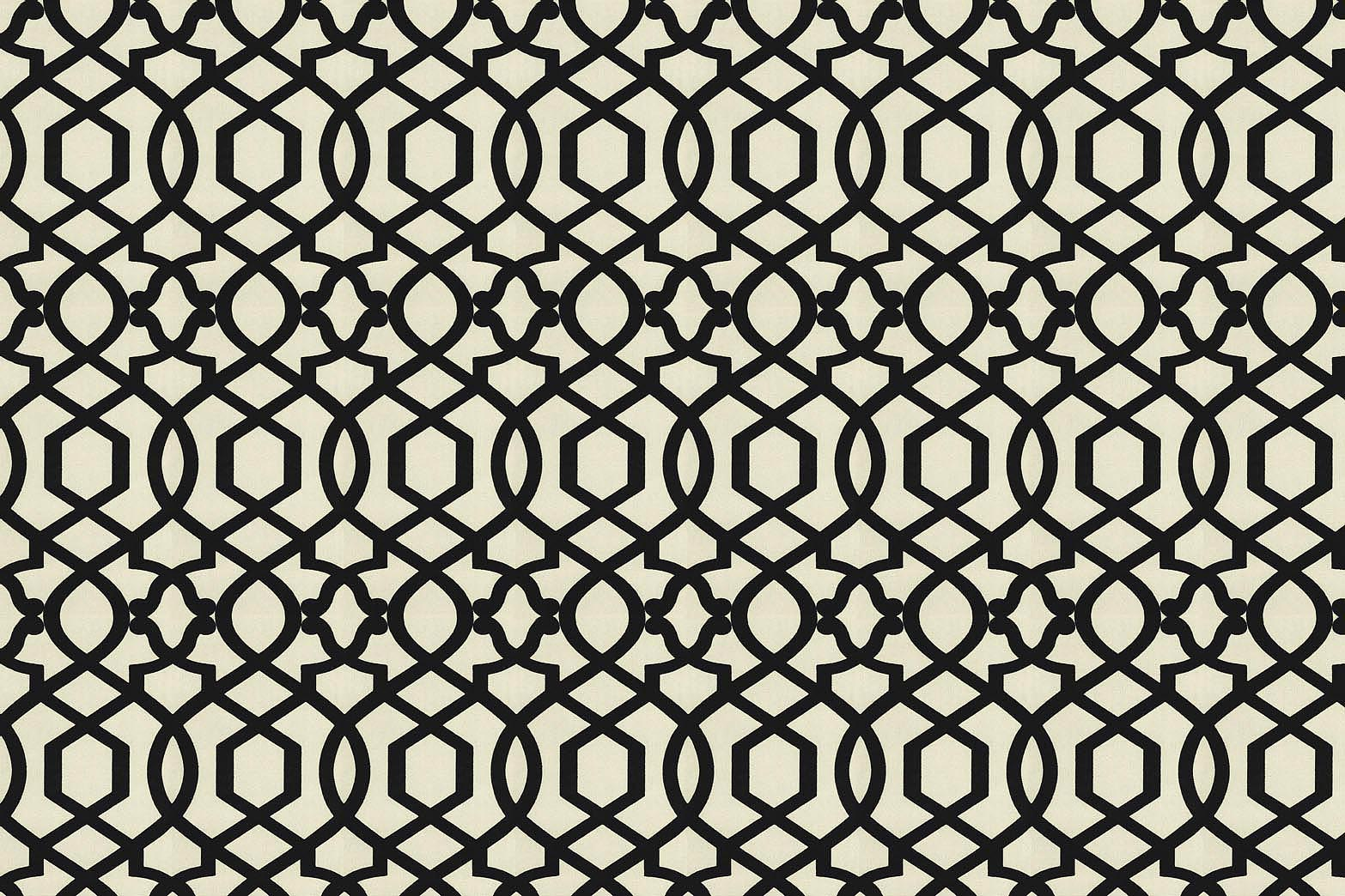 "Home Decor 8""x8"" Fabric Swatch-IMAN Home Sultana Lattice Noir"