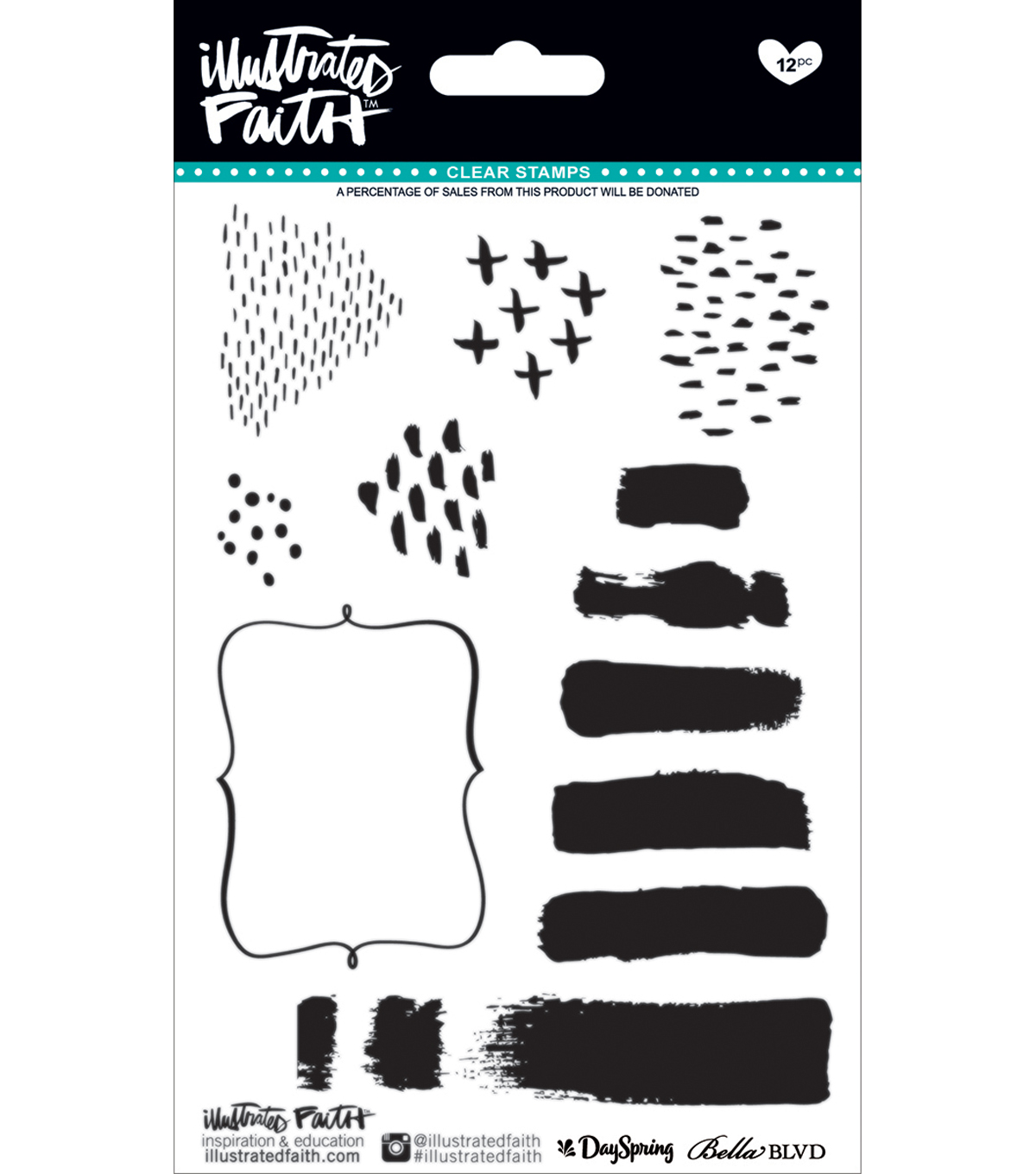 Illustrated Faith Basics Clear Stamps-Elements