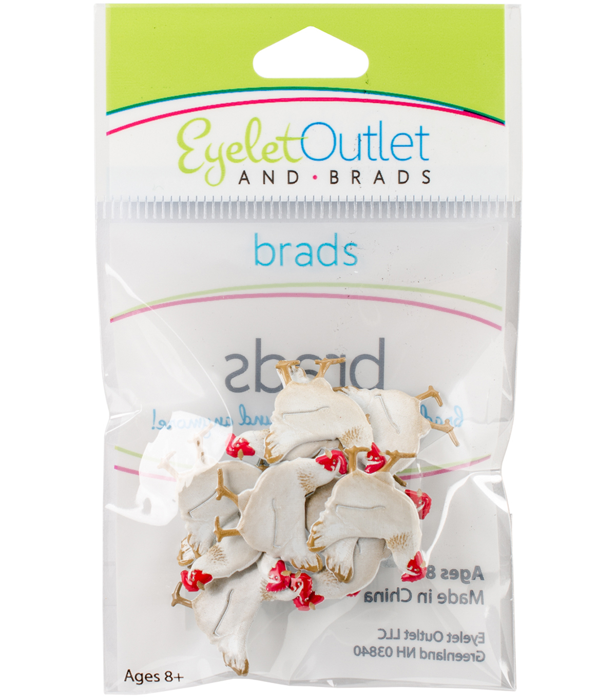 Eyelet Outlet Shape Brads-Chicken