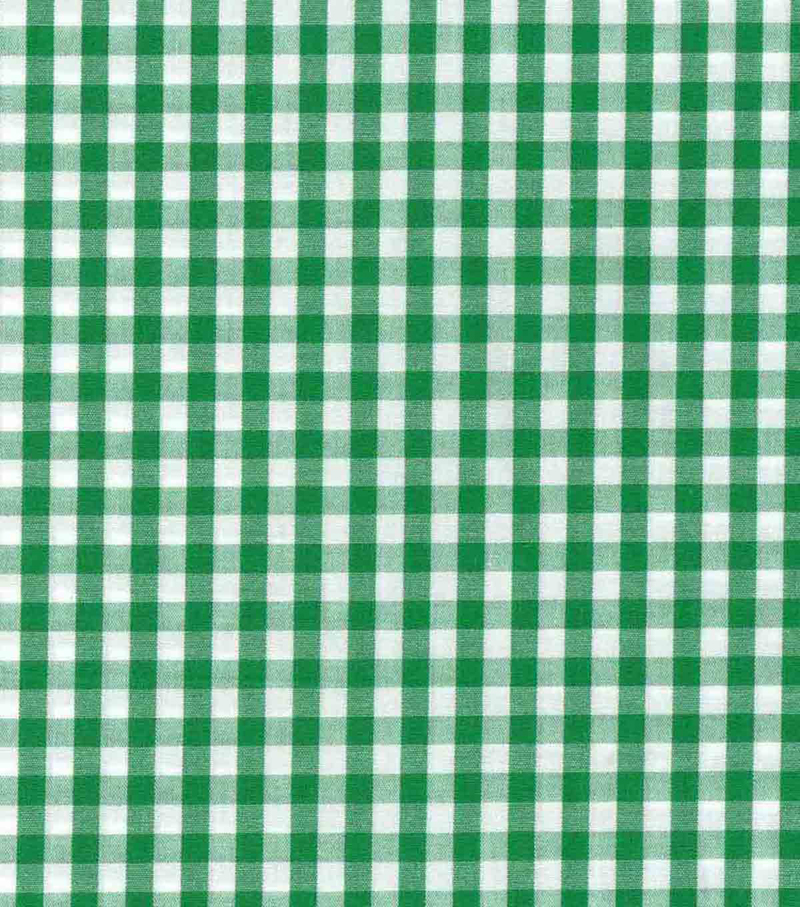 Azure Tide Pool Shirting Fabric-Green White Check