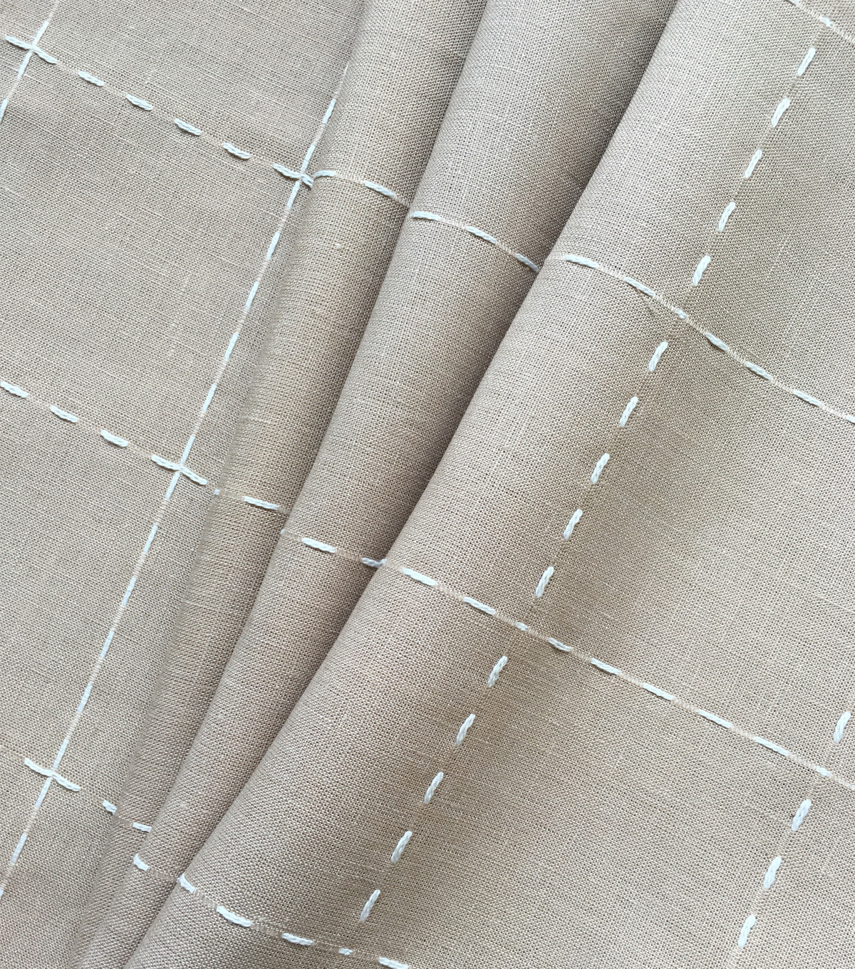 Linen & Linen Look Fabric 57\u0022-Check