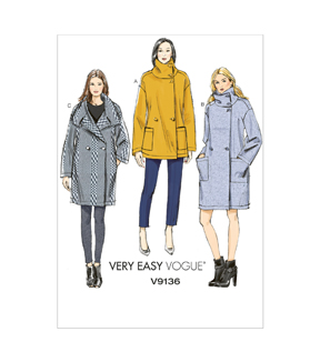 Vogue Patterns Misses Outerwear-V9136