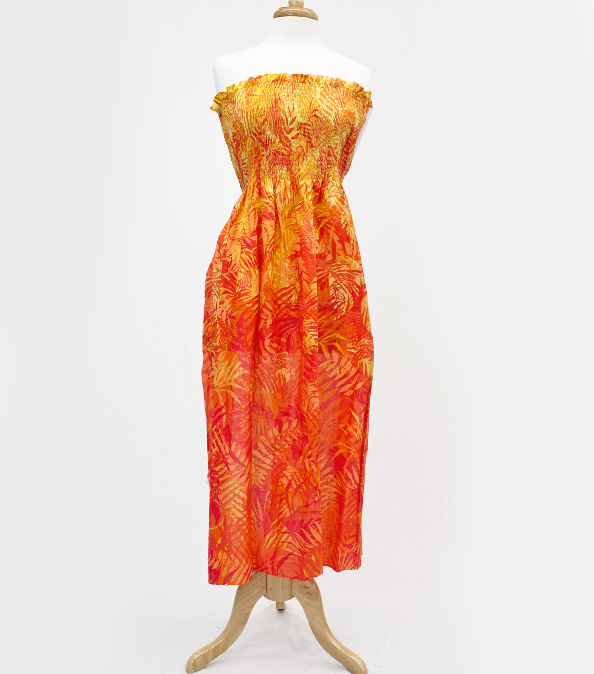 Style In An Instant 45\u0022 Shirred Dress Tropical Orange