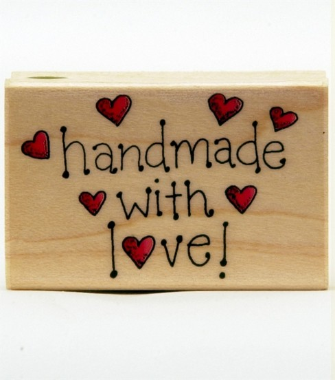 Hero Arts Rubber Stamp-Handmade With Love