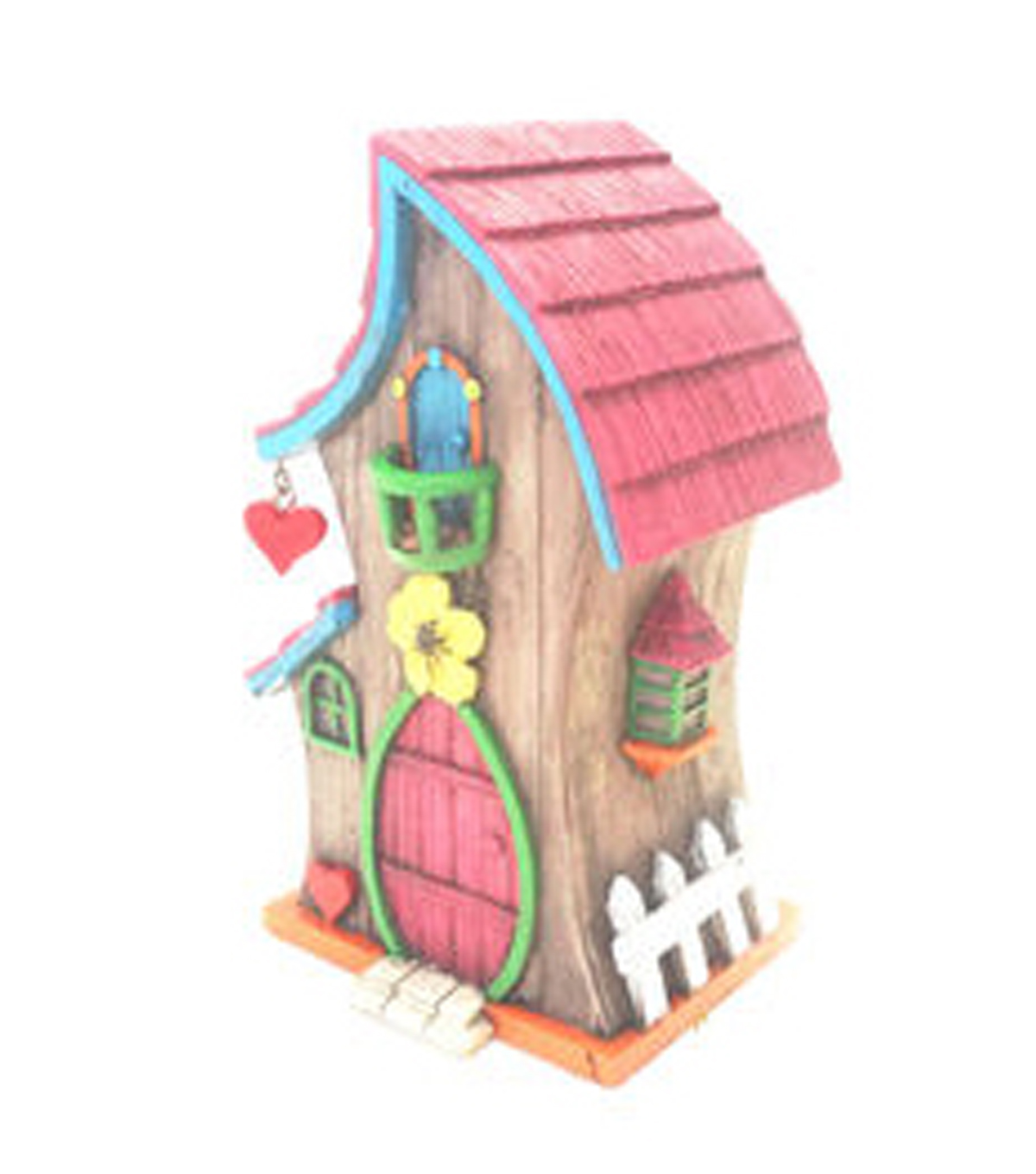 Fairy Garden Whimsical Roof House-Pink