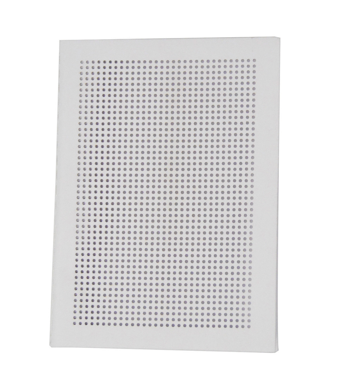Cross Stitch Style Punched Cover Journal-White