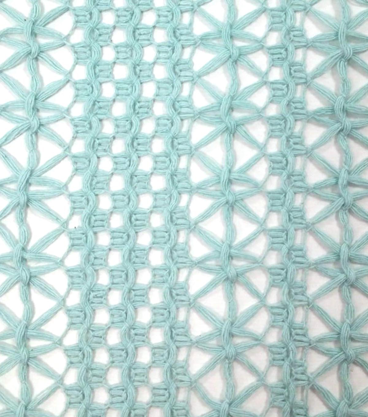 "Southwest Cotton Fabric 55""-Openweave Blue"