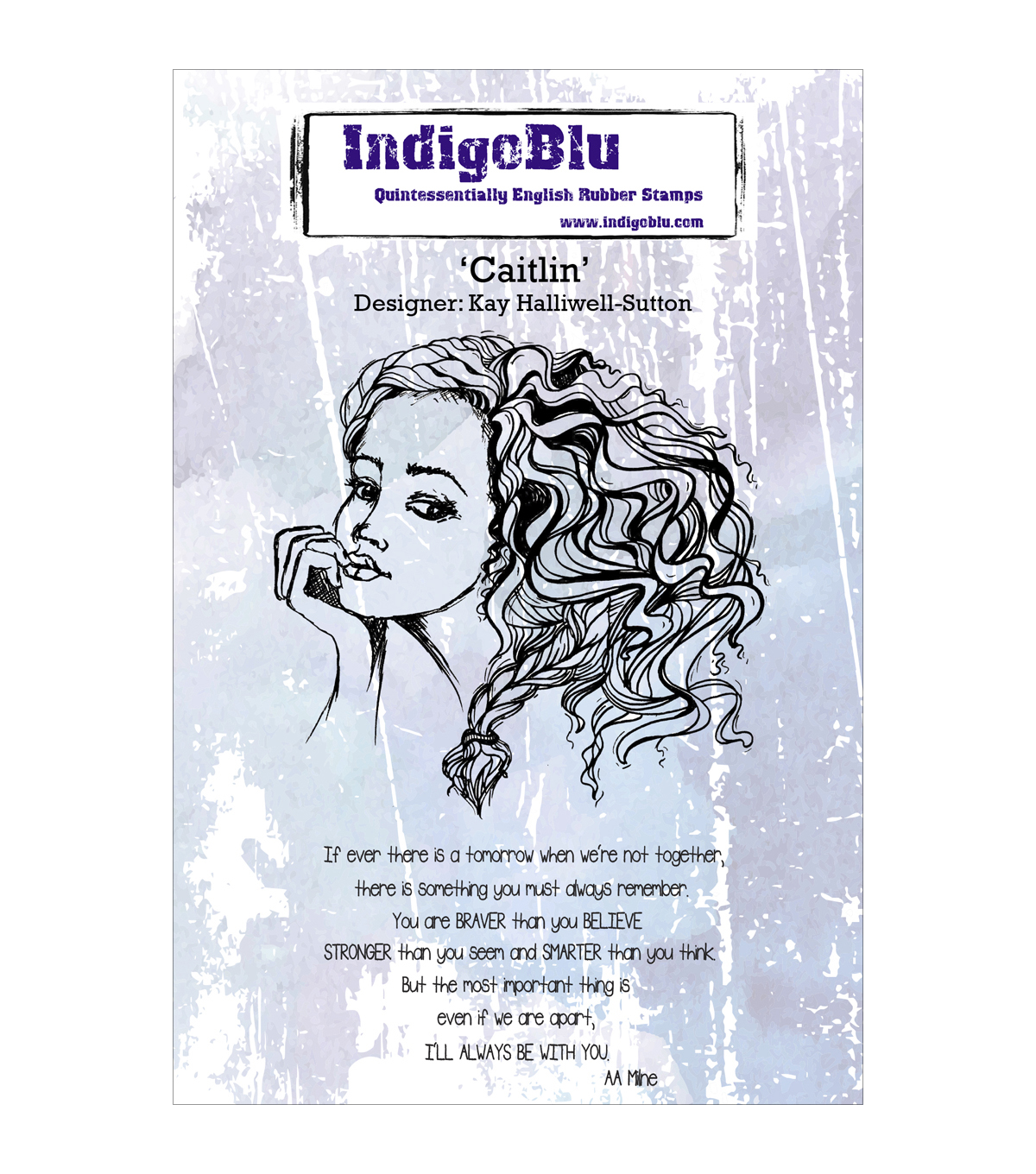 Indigoblu Caitlin Cling Mounted Stamp