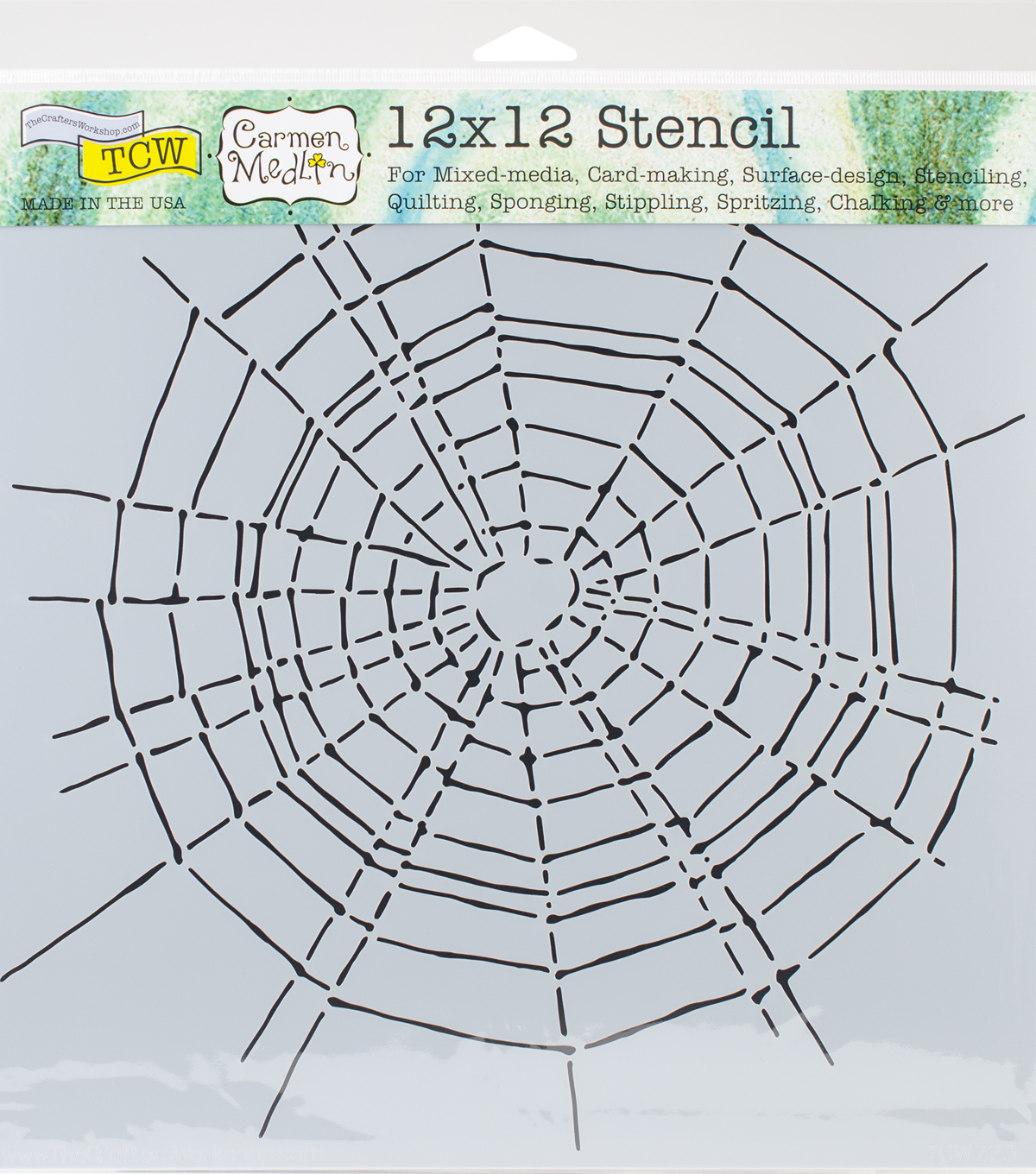 Crafter\u0027s Workshop Carmen Medlin Template 12\u0027\u0027x12\u0027\u0027-Scary Web