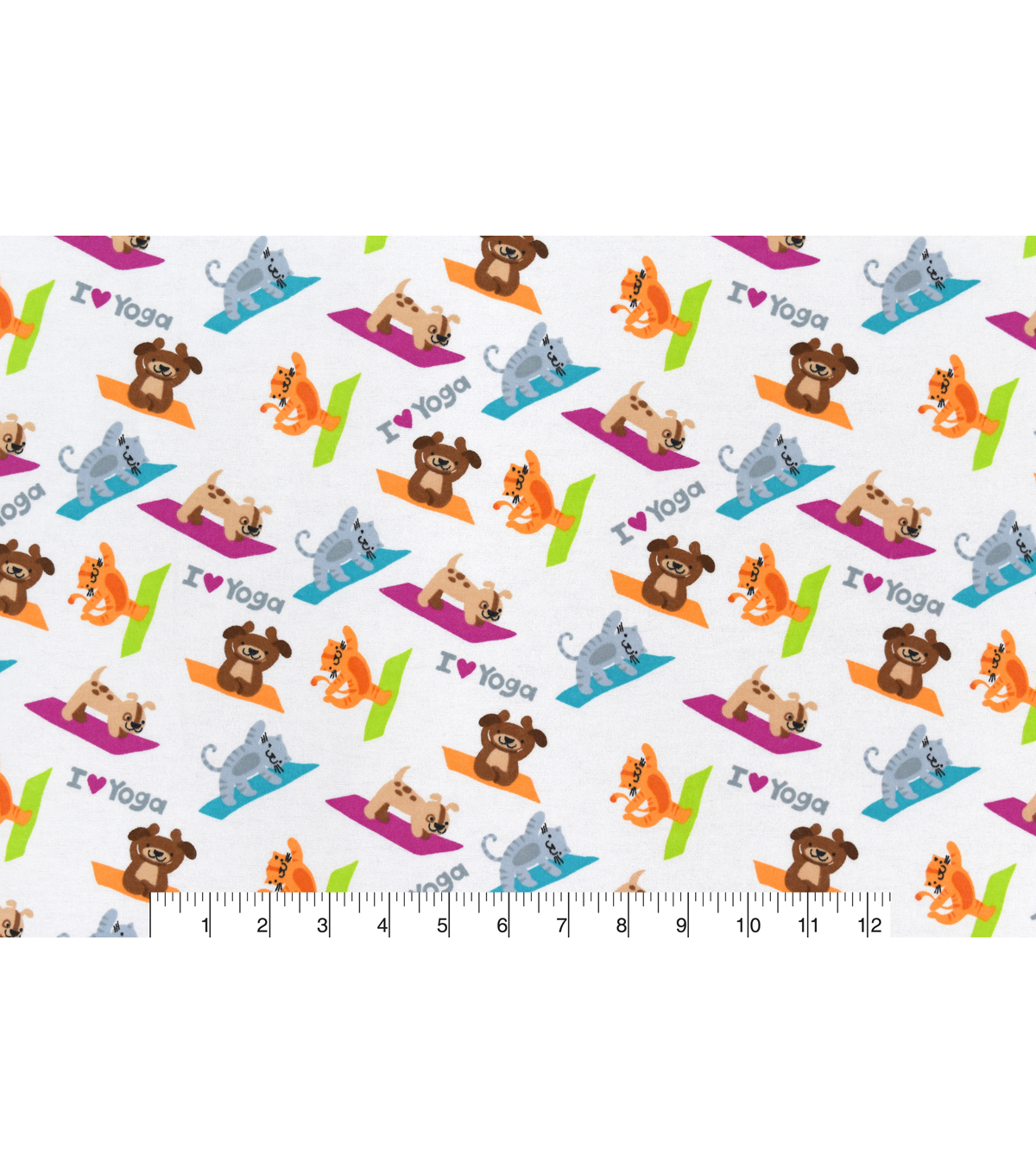 Snuggle Flannel Fabric 42\u0027\u0027-I Love Yoga