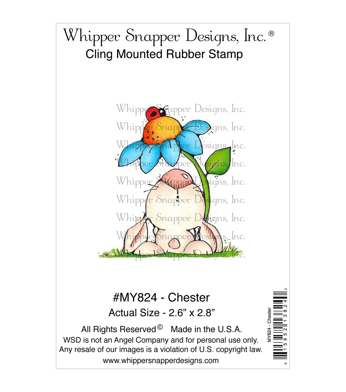Whipper Snapper Designs Cling Stamp-Chester