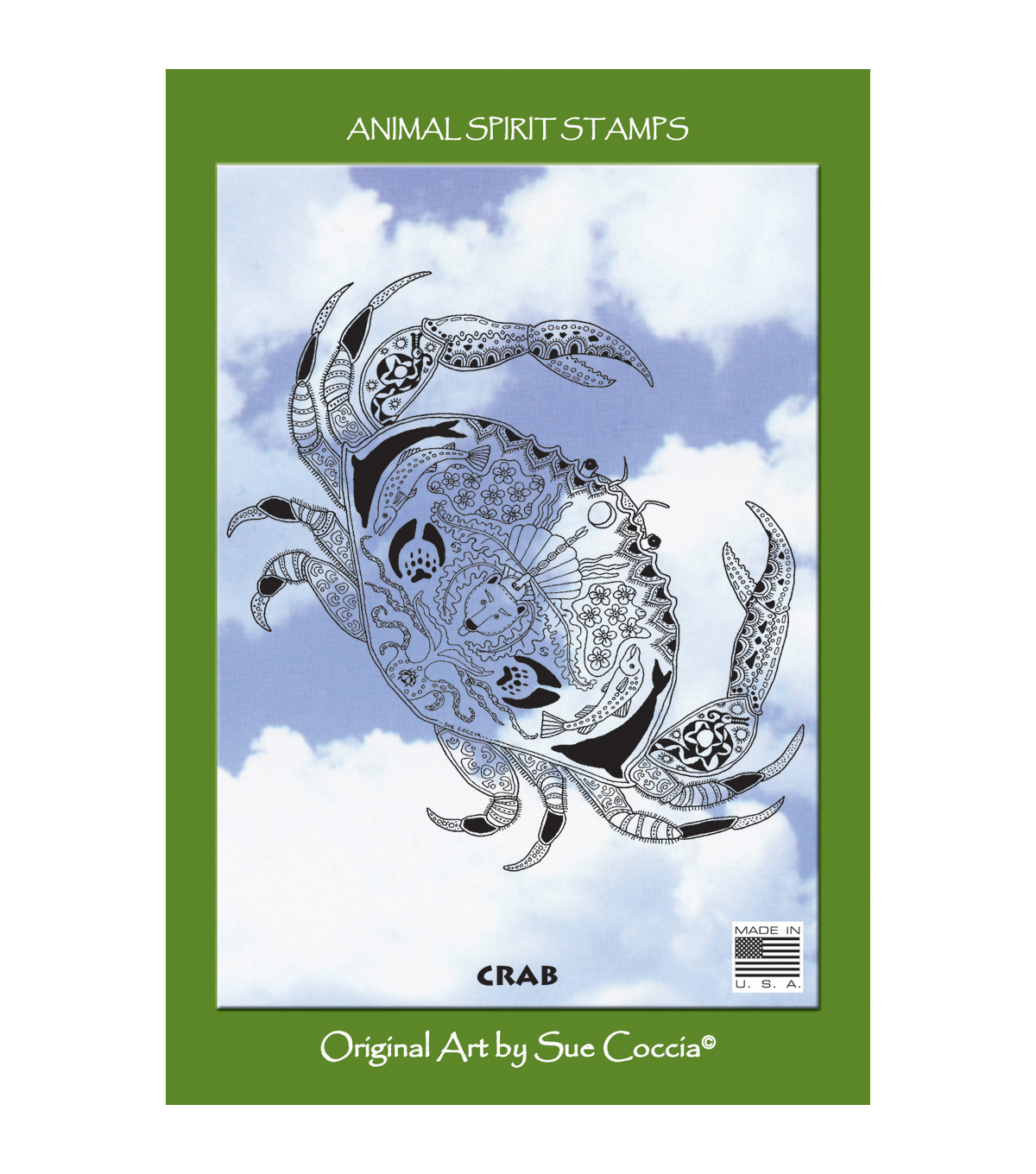 EarthArt International Cling Stamp-Crab