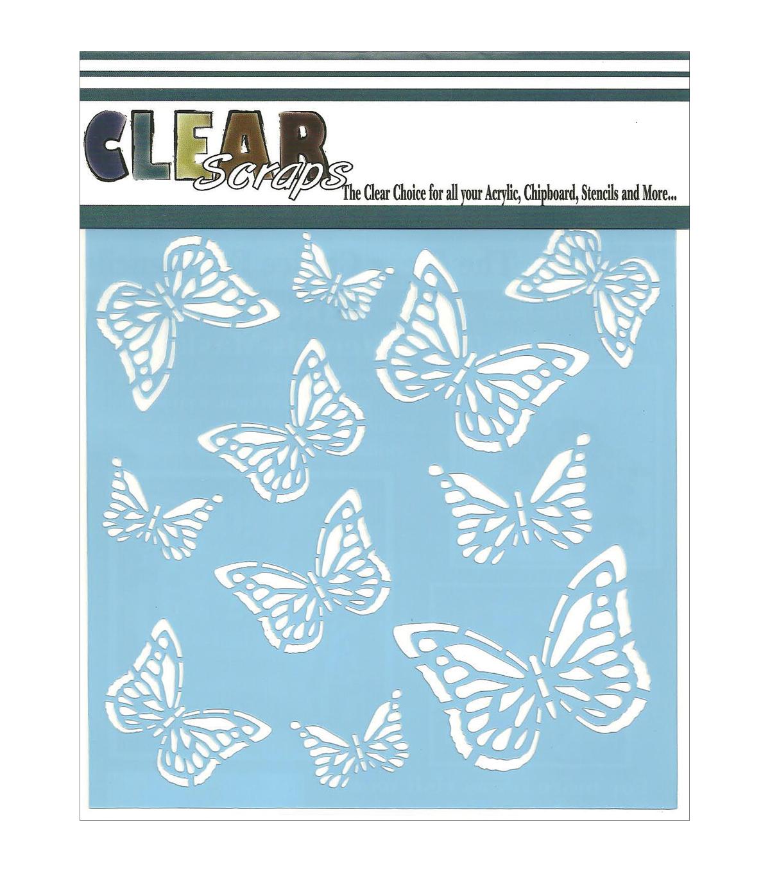 clear scraps stencils monarch butterfly joann