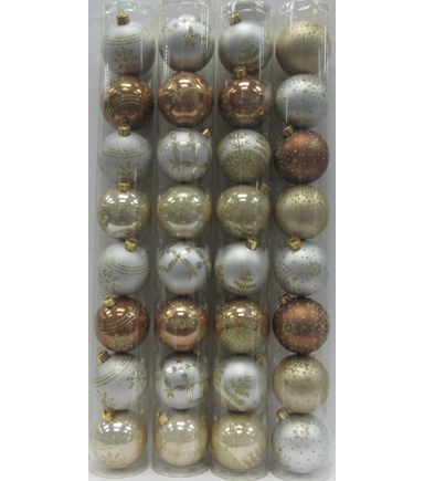 Maker\u0027s Holiday Christmas Glistening Pines Ornament in Tube-Contemporary