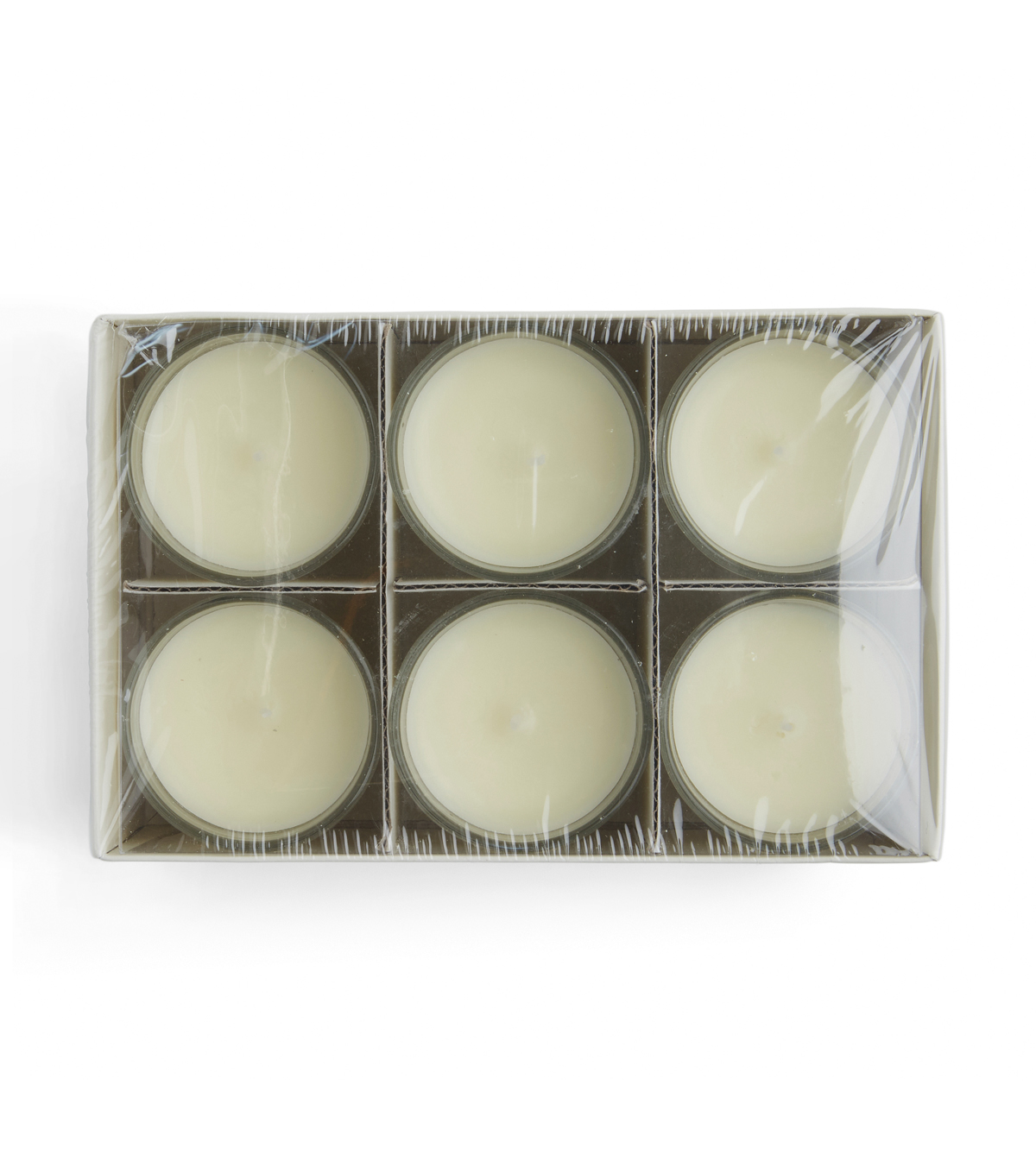 Hudson 43™ Candle & Light Collection 6pk Unscented Glass Accent Candles-Ivory