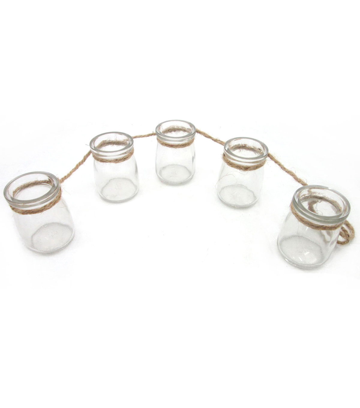 Bloom Room Glass Jar Garland With 5 Glass Jars