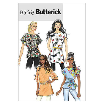 Butterick Pattern B5463-Misses\u0027 Top, Sash and Tunic