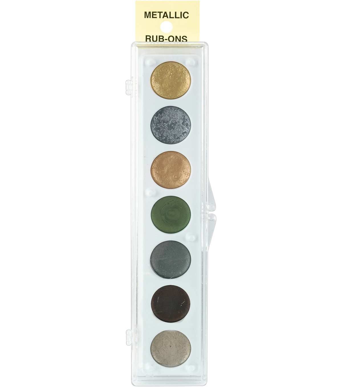 Metallic Rub-On Paint Palette-7 Colors-Kit #2