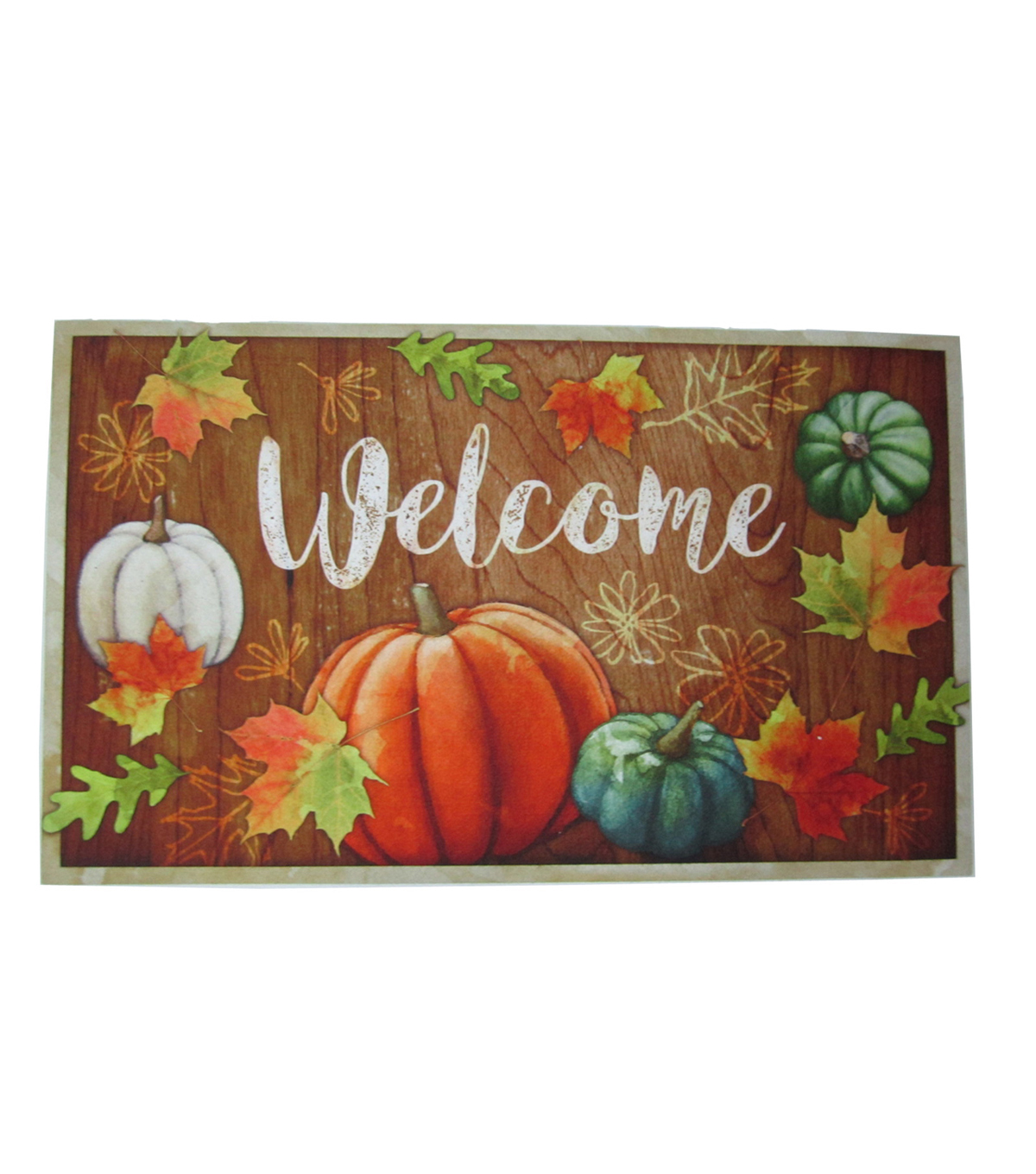 Fall Into Color Rubber Door Mat-Autumn Welcome